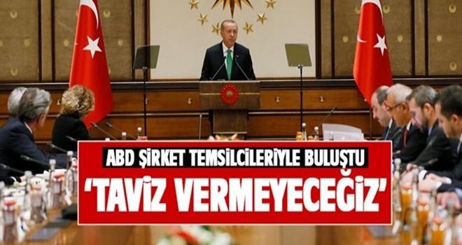 Başkan Erdoğan: Taviz vermeyeceğiz