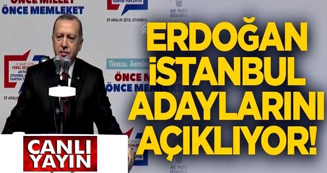 AK Parti İstanbul Aday Tanıtım Toplantısı başladı!