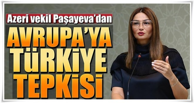 Azeri vekil Paşayeva'dan Avrupa'ya Türkiye tepkisi