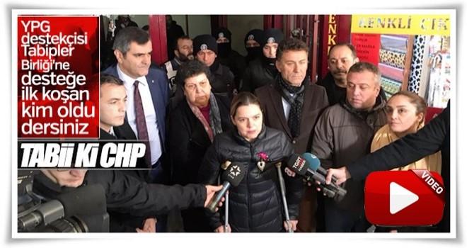 CHP'li vekiller Tabipler Odası'nın önünde toplandı