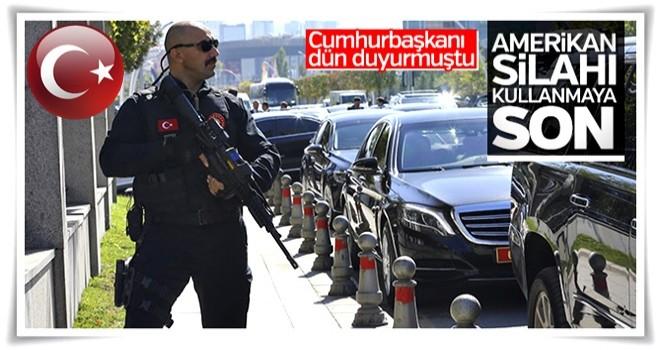 Cumhurbaşkanı Erdoğan'a yerli silahlı koruma
