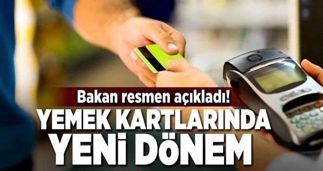 Yemek kartlarıyla market alışverişine son .