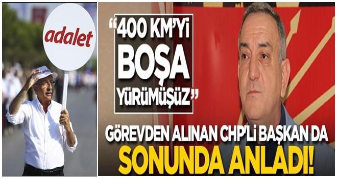 Görevden alınan CHP'li başkan da sonunda anladı!