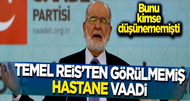 Temel Karamollaoğlu'nun hastane vaadi
