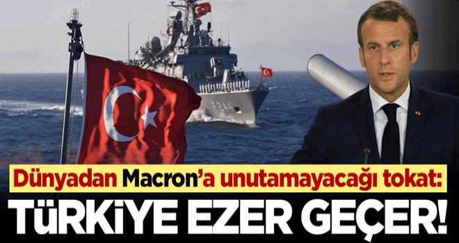 Batı medyası Macron'u yerden yere vurdular! Türk donanması hepinizi ezer geçer