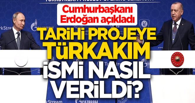 Tarihi projeye TürkAkım ismi nasıl verildi? Cumhurbaşkanı Erdoğan açıkladı