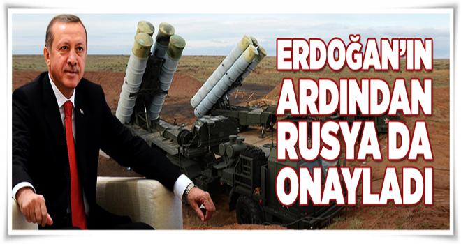 Erdoğan'ın ardından Rusya da açıkladı!  .