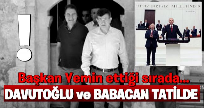 Erdoğan yemin ederken Davutoğlu ve Ali Babacan...