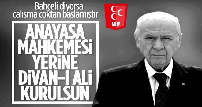 MHP lideri Devlet Bahçeli: AYM yeniden yapılandırılmalıdır