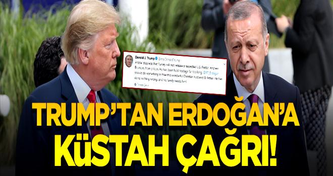 Trump'tan Erdoğan'a küstah çağrı! Papazın derdine düştü