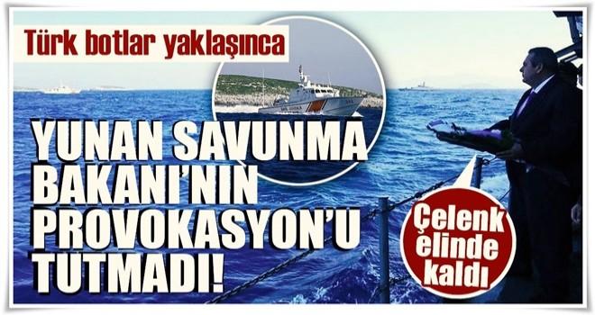 Türk askerinden Yunan bakana müdahale!