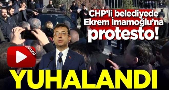İmamoğlu'na CHP'li belediyede protesto! Yuhalandı