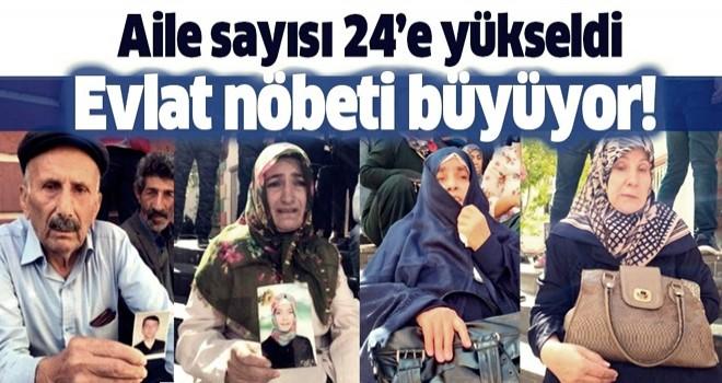 HDP önünde evlat nöbeti sürüyor: Aile sayısı 24'e yükseldi .