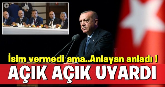 Cumhurbaşkanı Erdoğan'dan işten çıkarma uyarısı