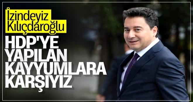 DEVA Partisi'nden HDP'ye kayyum desteği