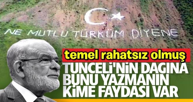 Tunceli dağlarına yazılan yazı Karamollaoğlu'na soruldu