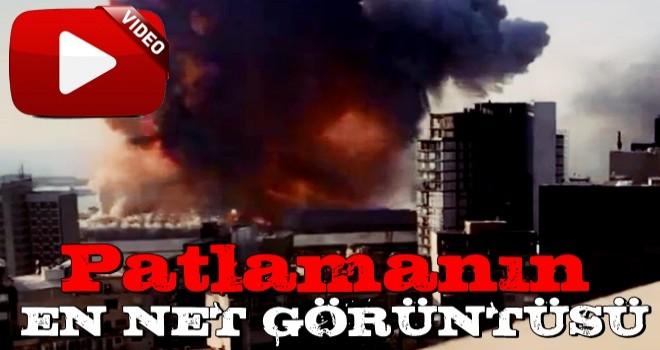 Lübnan'ın başkenti Beyrut'taki patlamanın en net görüntüleri yayınlandı