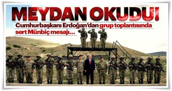 Cumhurbaşkanı Erdoğan: Münbiç'e geliyoruz
