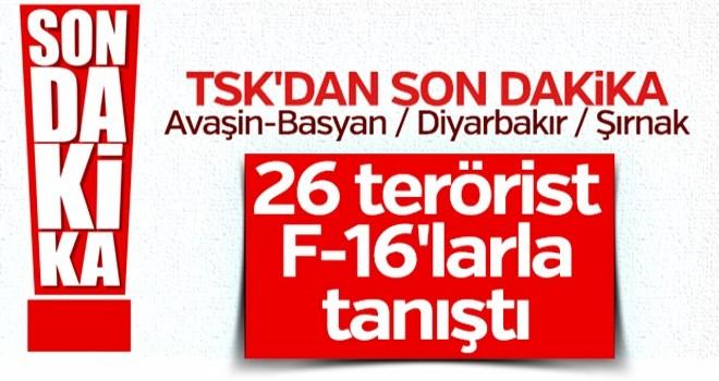 2 günde 26 terörist etkisiz hale getirildi