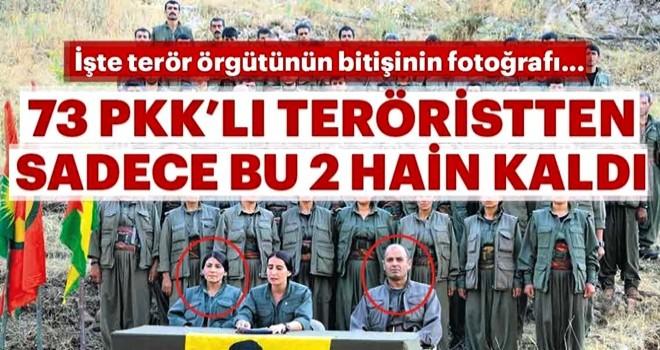 Bu fotoğraftaki 73 teröristten sadece ikisi kaldı