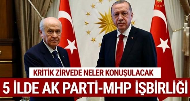 5 ilde AK Parti - MHP işbirliği! Kritik zirve bugün