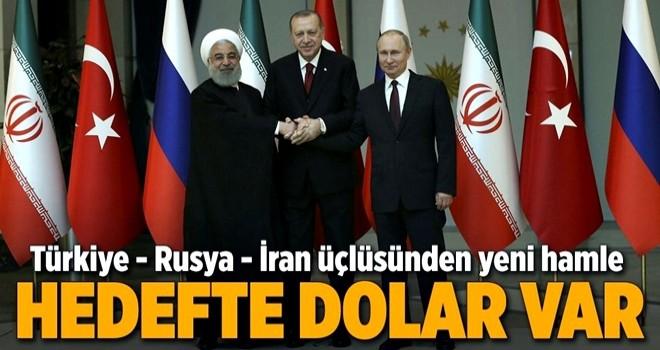 Türkiye-Rusya-İran arasında milli parayla ticaret dönemi .