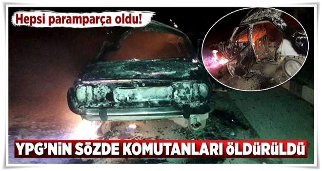 YPG'nin sözde komutanları öldürüldü! .