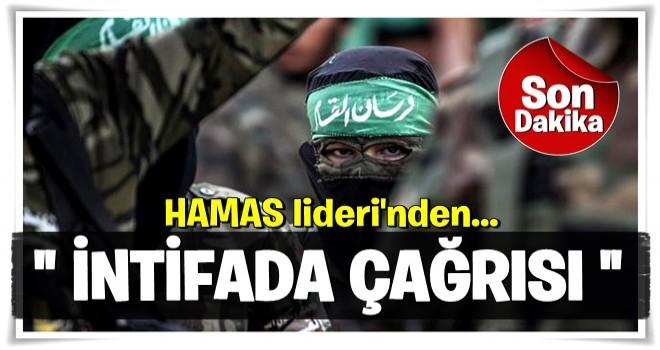 Hamas lideri Haniye yeni intifada çağrısı yaptı