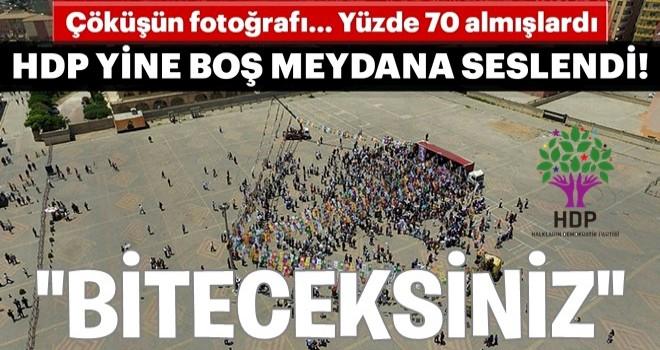HDP'nin Kızıltepe ve Nusaybin mitingleri boş kaldı