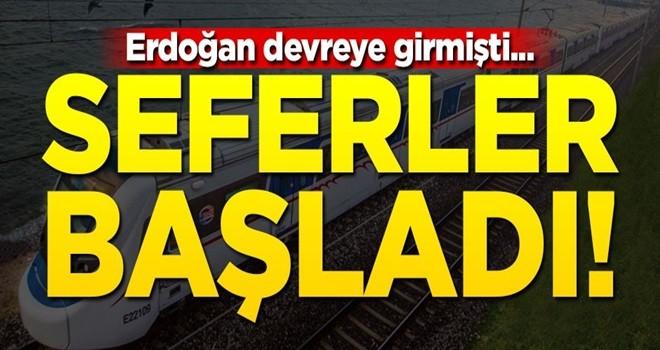 Erdoğan devreye girmişti... İzmir'de seferler başladı!