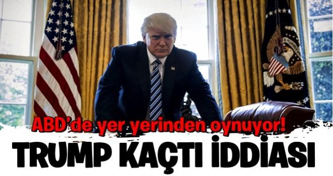 ABD'de yer yerinden oynuyor! Trump 'kaçtı' iddiası