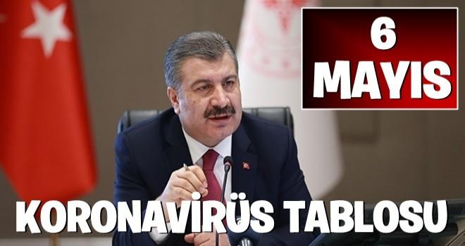Sağlık Bakanı Fahrettin Koca 6 Mayıs koronavirüs verilerini açıkladı! İşte corona virüs vaka sayısı