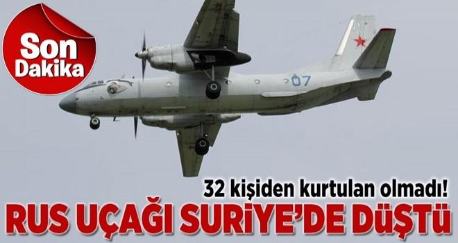Suriye'de Rus uçağı düştü! Çok sayıda kişi hayatını kaybetti .