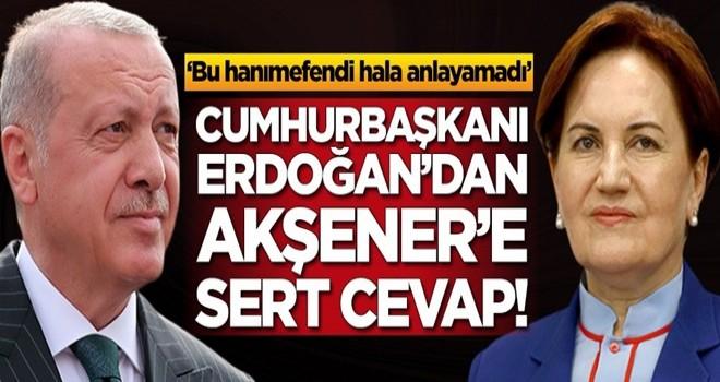 Başkan Erdoğan'dan Meral Akşener'e sert cevap!
