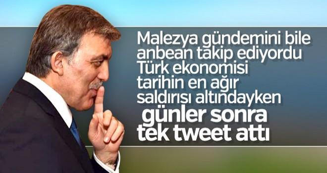 Abdullah Gül: Trump'ın tweetleri utanç verici