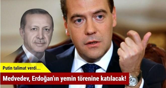 Medvedev, Erdoğan'ın yemin törenine katılacak!