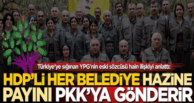 YPG'nin eski sözcüsü hain ilişkiyi anlattı: HDP'li her belediye PKK'ya para gönderir