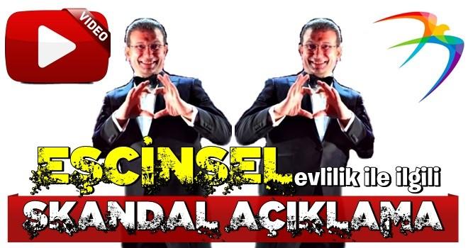 Ekrem'den 'eşcinsel evlilikle' ilgili skandal açıklama!!!