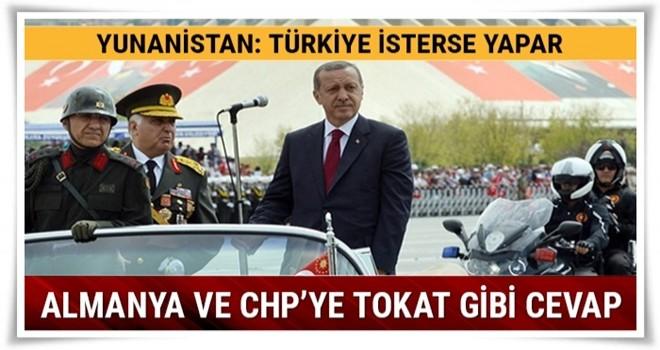 Yunanistan'dan Almanya ve CHP'ye tokat gibi cevap: Türkiye isterse yapar