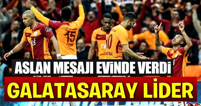 Galatasaray, Başakşehir'i geçti zirveye yükseldi
