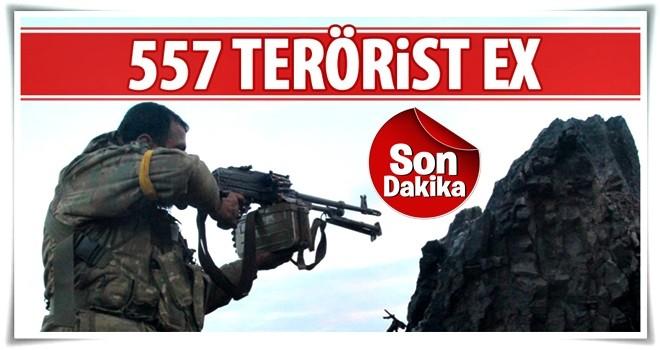 TSK: 557 terörist öldürüldü