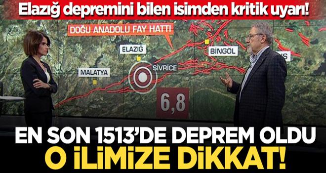 Elazığ depremini bilen Prof. Dr. Naci Görür'den kritik uyarı! Kahramanmaraş'a dikkat