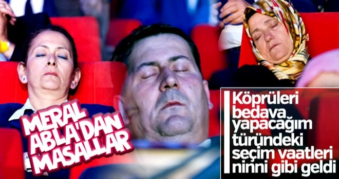 Meral Akşener'in konuşması partilileri uyuttu