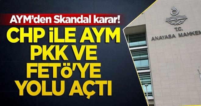 Skandal karar! CHP ile AYM, PKK ve FETÖ'ye yolu açtı
