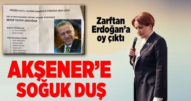 İyi Parti Kongresinde, oy zarfından Erdoğan ve Bahçeli'nin adı çıktı .