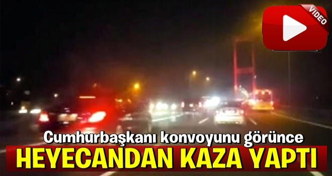 İnanılmaz olay! Erdoğan'ın konvoyunu görünce heyecandan...