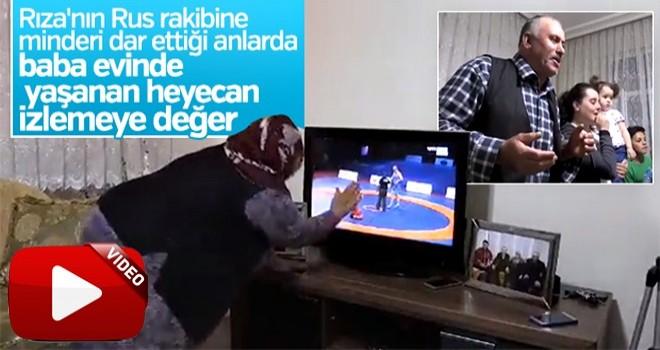 Rıza Kayaalp'in ailesi evde mücadeleyi böyle izledi