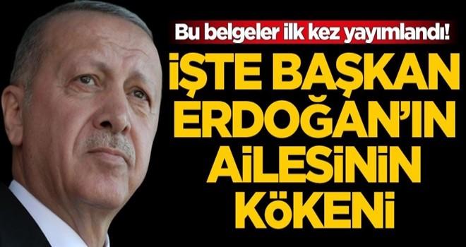 Bu belgeler ilk kez yayımlandı! İşte Başkan Erdoğan'ın ailesinin kökeni