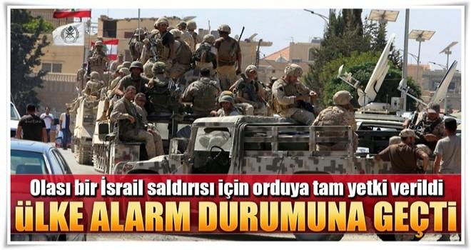 O ülke alarm durumuna geçti! İsrail saldırısına karşı orduya tam yetki verildi