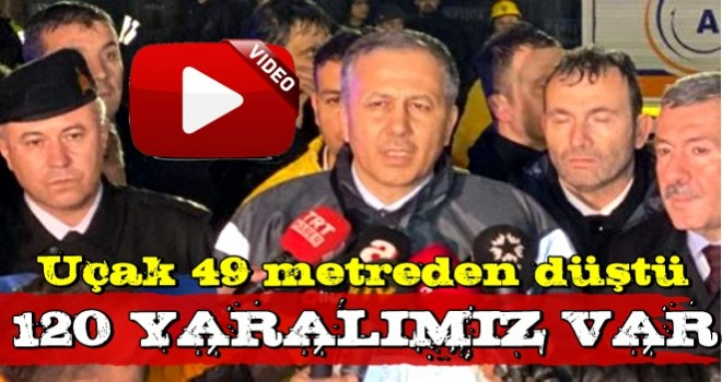 İstanbul Valisi uçak kazasıyla ilgili açıklama yaptı